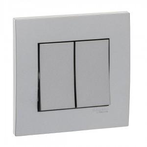 Schneider Electric Vivace 2 Gang 2 Way Switch (8.7 x 8.7 x 3.5 cm, 250 VAC)